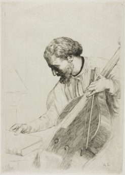 The Double Bass Player | Alphonse Legros | Oil Painting