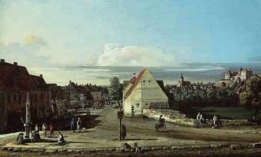 View of Pirna with the Fortress of Sonnenstein   Bernardo Bellotto   Oil Painting