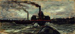 River Boat | Charles Francois Daubigny | Oil Painting