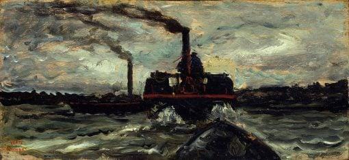 River Boat   Charles Francois Daubigny   Oil Painting