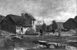 Houses in Optevoz | Charles Francois Daubigny | Oil Painting