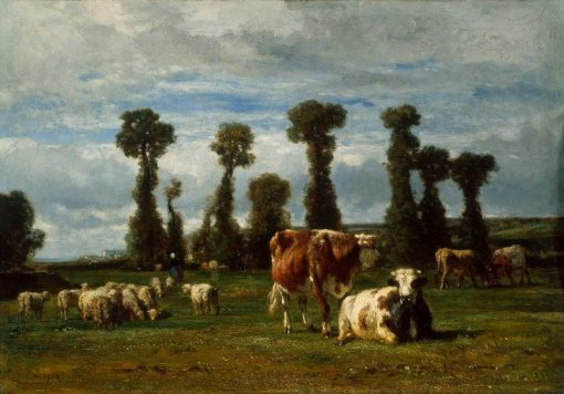 Pasture in Normandy | Constant Troyon | Oil Painting