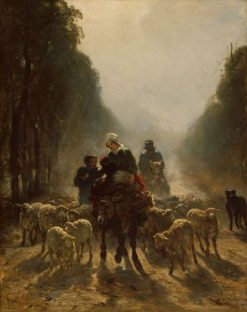 The Road to Market | Constant Troyon | Oil Painting