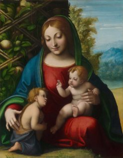 Virgin and Child with the Young Saint John the Baptist | Correggio | Oil Painting