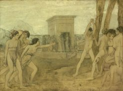 Young Spartan Girls Challenging Boys | Edgar Degas | Oil Painting
