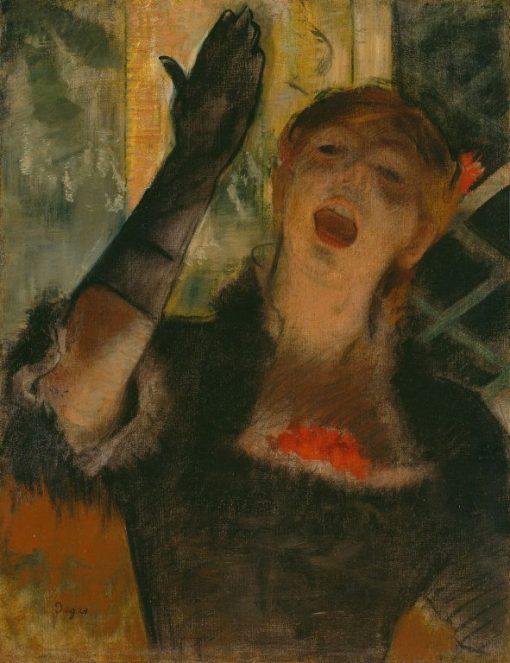 Cafe Singer | Edgar Degas | Oil Painting