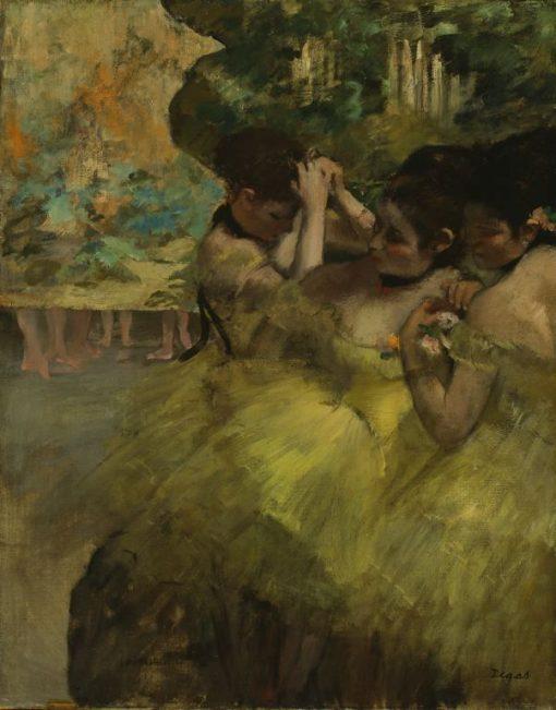 Yellow Dancers (in the Wings) | Edgar Degas | Oil Painting