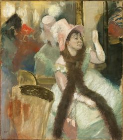Portrait after a Costume Ball(also known as Mme Dietz-Monnin) | Edgar Degas | Oil Painting