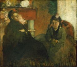 Portrait of Mme Lisle and Mme Loubens | Edgar Degas | Oil Painting