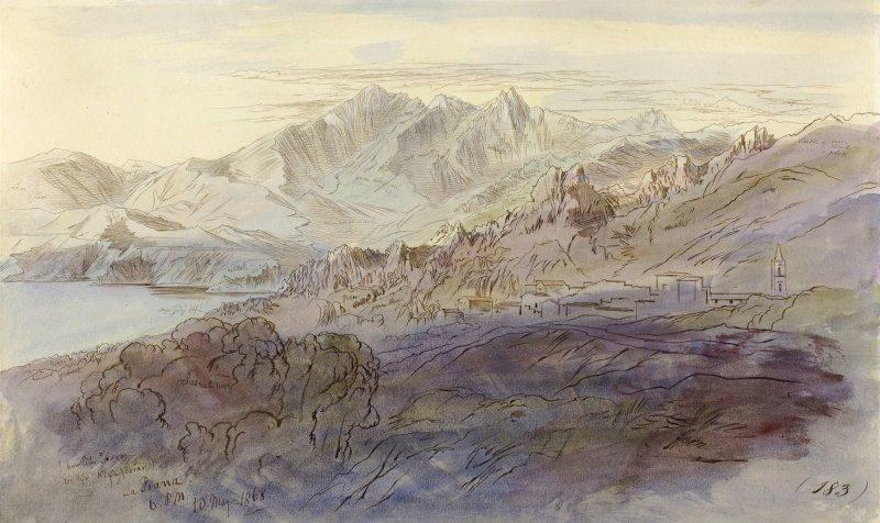 La Piana   Edward Lear   Oil Painting