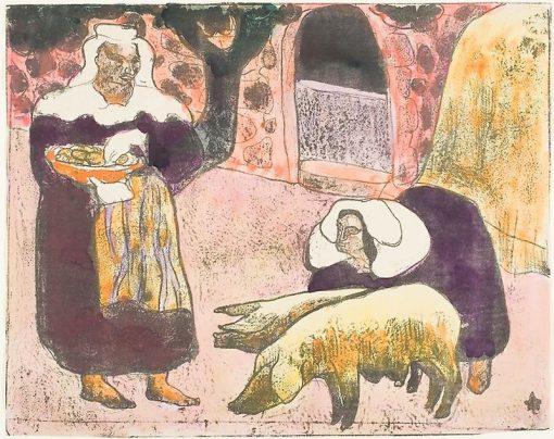 Breton Women   Emile Bernard   Oil Painting