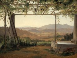 Fountain and Pergola in Italy | Ernest Fritz Petzholdt | Oil Painting