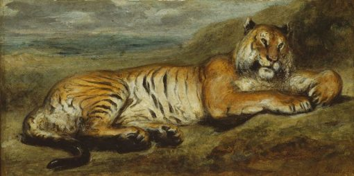 Tiger Resting | Eugene Delacroix | Oil Painting