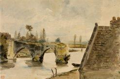 The Old Bridge at Nantes | Eugene Delacroix | Oil Painting