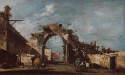 Capriccio: Ruined Archway | Francesco Guardi | Oil Painting
