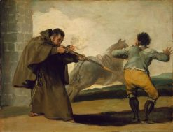 Friar Pedro Shoots El Maragato as his Horse Runs Off | Francisco de Goya y Lucientes | Oil Painting