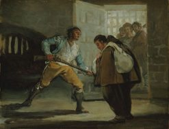El Maragato Threatens Friar Pedro de Zaldivia with his Gun | Francisco de Goya y Lucientes | Oil Painting