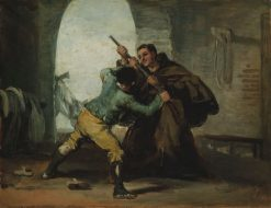 Friar Pedro Wrests the Gun from El Maragato | Francisco de Goya y Lucientes | Oil Painting