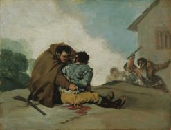 Friar Pedro Binds El Maragato with a Rope | Francisco de Goya y Lucientes | Oil Painting
