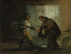 Friar Pedro Offers Shoes to El Maragato and Prepares to Push Aside his Gun | Francisco de Goya y Lucientes | Oil Painting