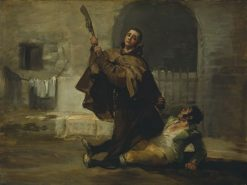 Friar Pedro Clubs El Maragato with the Butt of a Gun | Francisco de Goya y Lucientes | Oil Painting