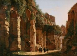 Inside the Colosseum   Franz Ludwig Catel   Oil Painting