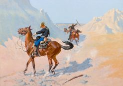The Advance-Guard(also known as The Military Sacrifice (The Ambush)) | Frederic Remington | Oil Painting