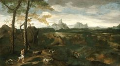 Landscape with a Herdsman and Goats | Gaspard Dughet | Oil Painting