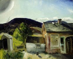 The Village Houses | George Wesley Bellows | Oil Painting