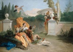 Rinaldo and Armida in Her Garden | Giovanni Battista Tiepolo | Oil Painting