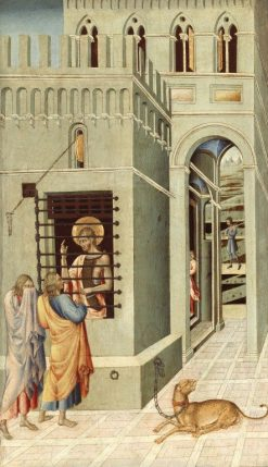 Saint John the Baptist in Prison Visited by Two Disciples | Giovanni di Paolo | Oil Painting