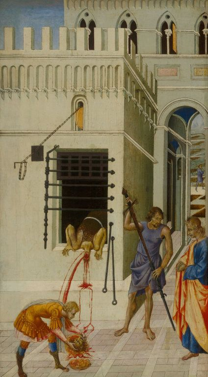 The Beheading of Saint John the Baptist | Giovanni di Paolo | Oil Painting
