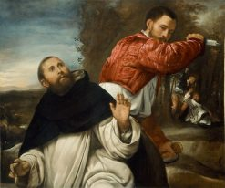 The Death of St. Peter Martyr | Giovanni Girolamo Savoldo | Oil Painting