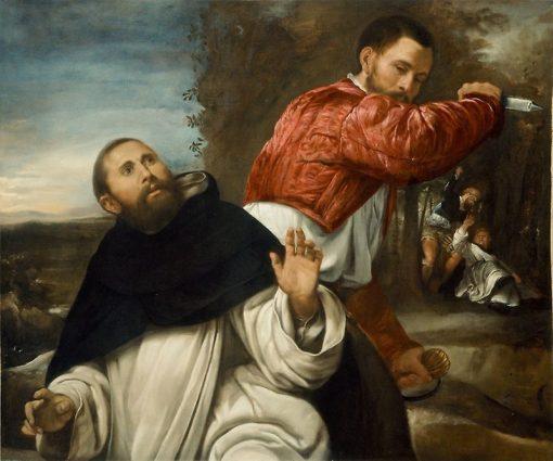 The Death of St. Peter Martyr | Giovanni Girolamo Savoldo | Oil Painting