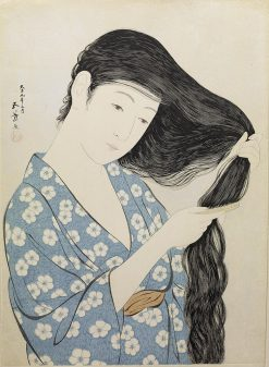 Portrait of Kodaira Tomi(also known as Combing the Hair)   Goyo? Hashiguchi   Oil Painting