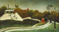 Sawmill on the Outskirts of Paris | Henri Rousseau | Oil Painting