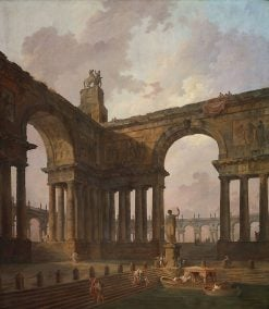The Landing Place | Hubert Robert | Oil Painting