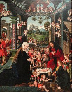 The Adoration of the Christ Child | Jacob Cornelisz. van Oostsanen | Oil Painting