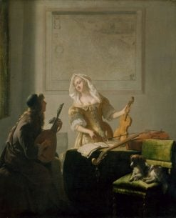 The Music Lesson | Jacob Ochtervelt | Oil Painting