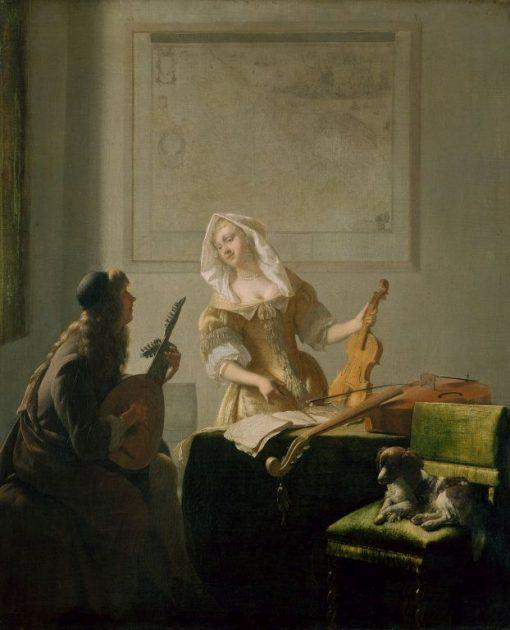 The Music Lesson | Jacob Ochtervelt | Oil Painting