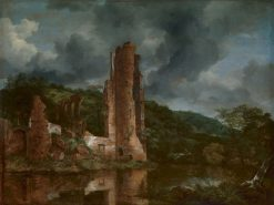 Landscape with the Ruins of the Castle of Egmond | Jacob van Ruisdael | Oil Painting