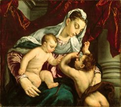Virgin and Child with the Young Saint John the Baptist | Jacopo Bassano | Oil Painting