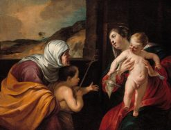 Virgin and Child with Saint Elizabeth and the Infant Saint John the Baptist | Jacques Blanchard | Oil Painting