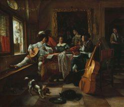 The Family Concert | Jan Havicksz. Steen | Oil Painting