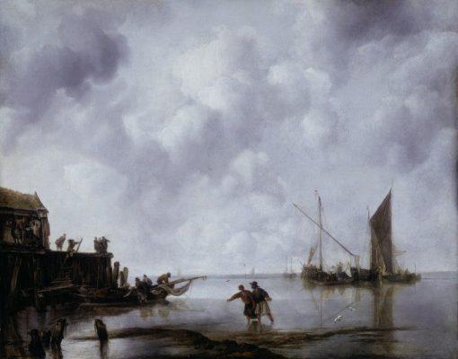 Fishing Boats in a Calm | Jan van de Cappelle | Oil Painting