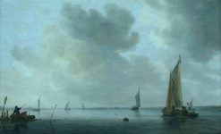 Fishing Boats off an Estuary | Jan van Goyen | Oil Painting