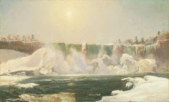 Niagara Falls in Winter | Jasper Francis Cropsey | Oil Painting