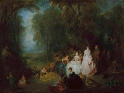 Fetes Champetre (Pastoral Gathering) | Jean Antoine Watteau | Oil Painting
