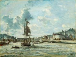 Entrance to the Port of Honfleur | Johan Barthold Jongkind | Oil Painting