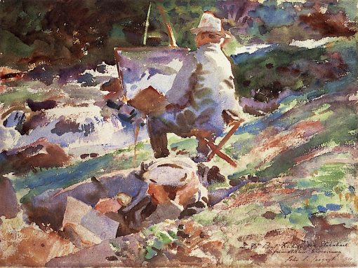 An Artist at His Easel | John Singer Sargent | Oil Painting